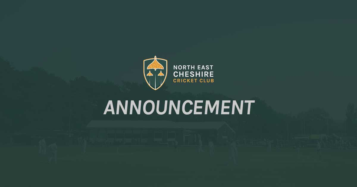 Announcing North East Cheshire Cricket Club