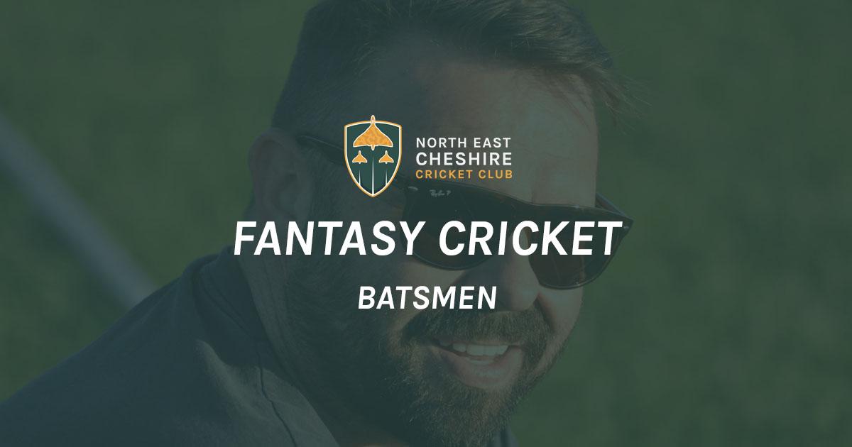 Fantasy Cricket '19: Batsmen