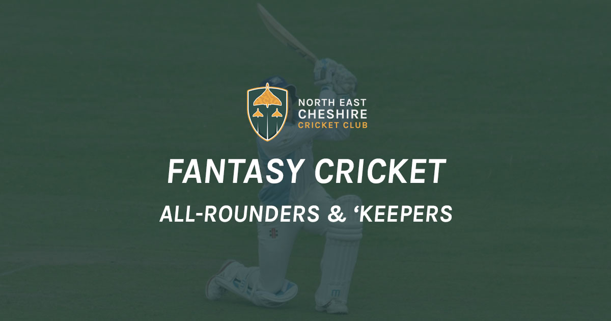 Fantasy Cricket '19: All-Rounders & Wicketkeepers